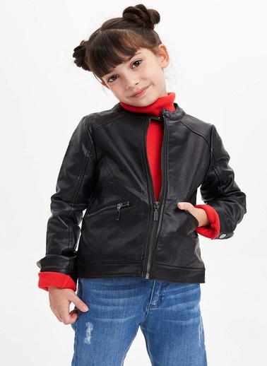 DeFacto Deri Ceket Siyah